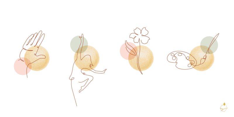 Petra de Krom portfolio branding illustraties