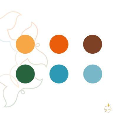 Petra de Krom portfolio You are in Balance kleurenpalet